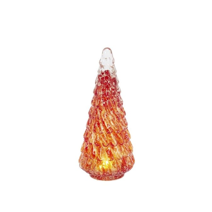 Gerson International 9 5 In Tall Battery Operated Lighted Hand Blown Glass Decor Tree In The Christmas Table Decorations Department At Lowes Com