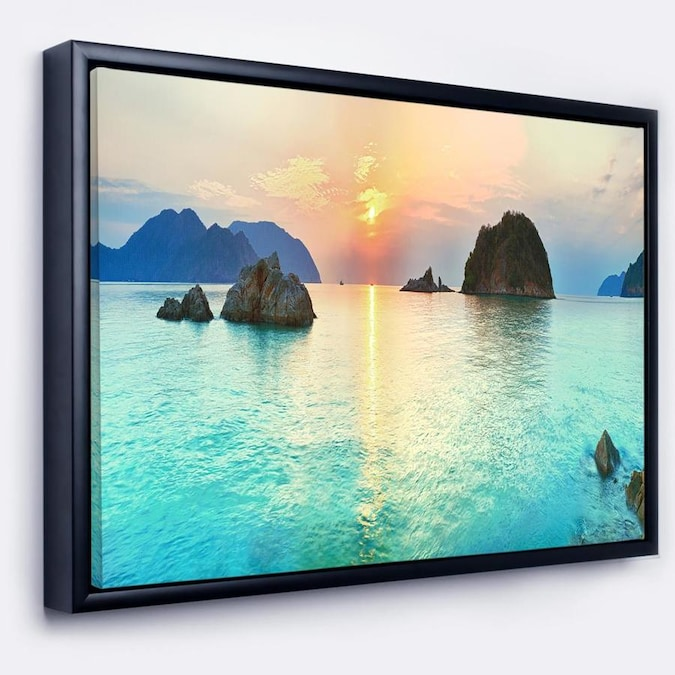 Designart Sunrise Panorama Photography Framed Canvas Art Print In The Wall Art Department At Lowes Com
