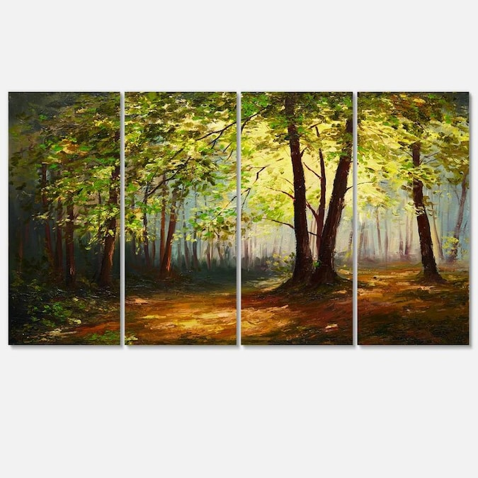 Designart Summer Forest Landscape Art Print Canvas In The Wall Art Department At Lowes Com