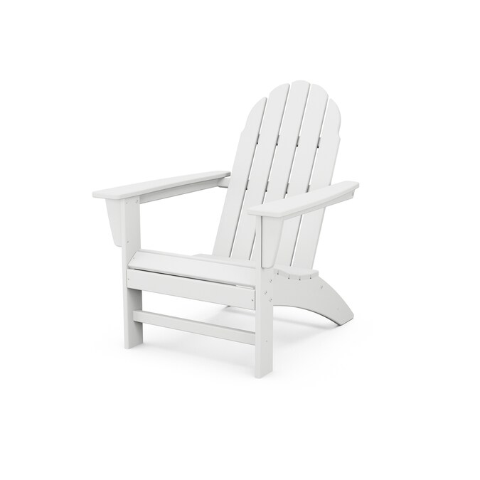 Trex Outdoor Furniture Seaport Classic White Plastic Frame Stationary Adirondack Chair S With Slat Seat In The Patio Chairs Department At Lowes Com