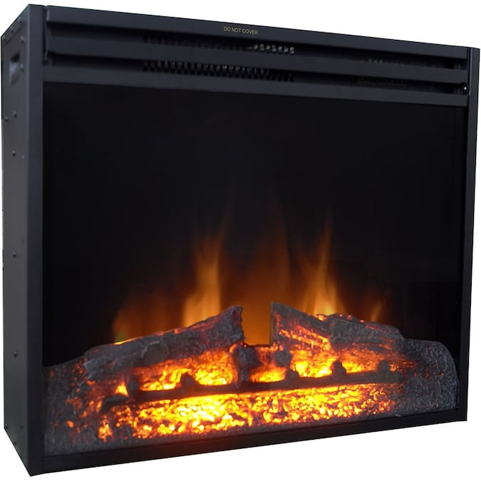Cambridge 27 8 In W Black Fan Forced Electric Fireplace In The Electric Fireplaces Department At Lowes Com