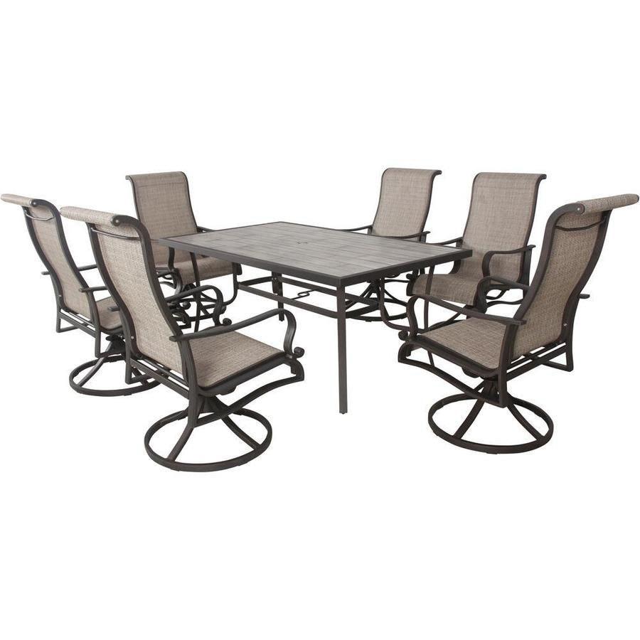 outdoor dining set with rocking chairs