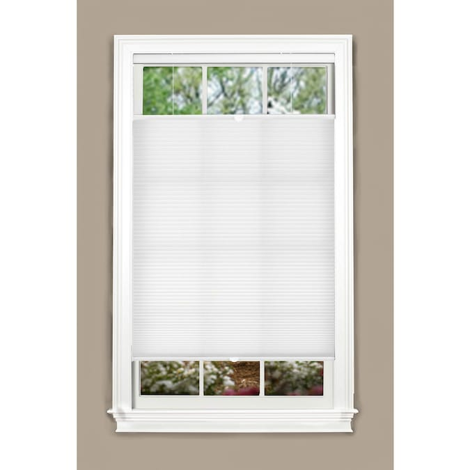 Allen Roth Top Down Bottom Up 32 In X 72 In White Light Filtering Cordless Cellular Shade In The Window Shades Department At Lowes Com