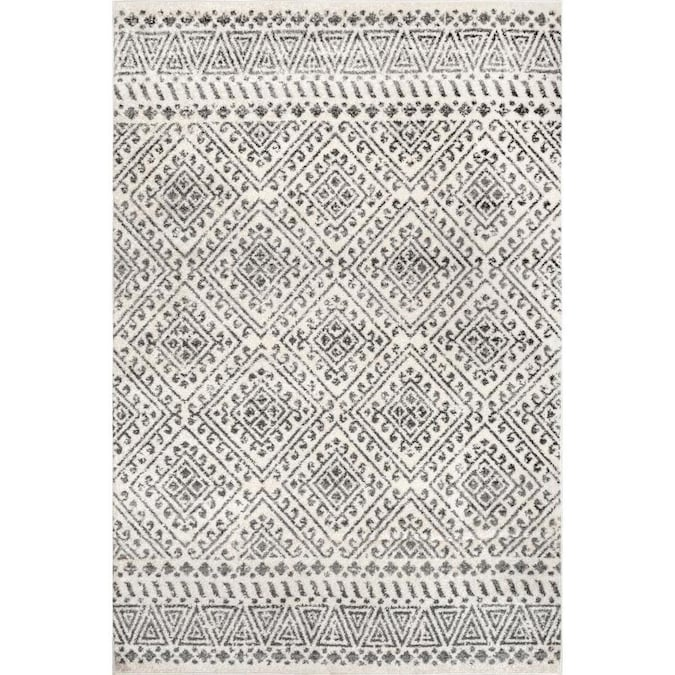 Nuloom Camila 4 X 6 Off White Indoor Trellis Area Rug In The Rugs Department At Lowes Com