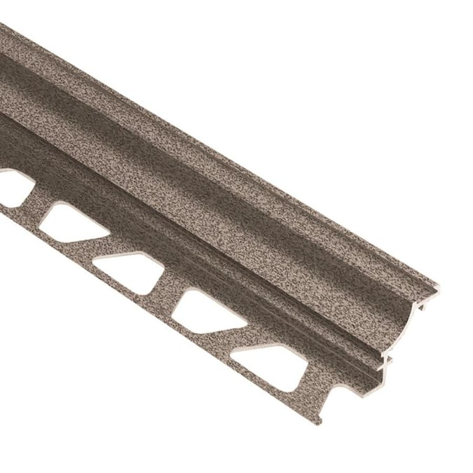 Schluter Systems Dilex Ahk 0 375 In W X 98 5 In L Stone Grey Textured Color Coated Aluminum Tile Edge Trim In The Tile Edge Trim Department At Lowes Com