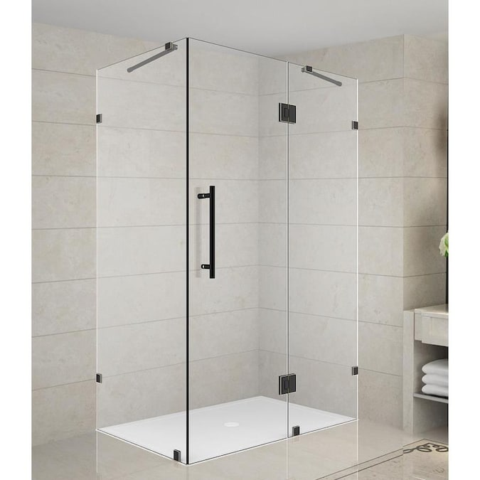Aston Avalux 72 In H X 36 In W Frameless Hinged Shower Door Clear Glass In The Shower Doors Department At Lowes Com