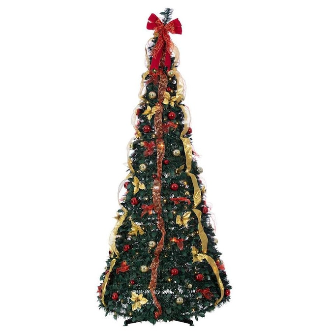 Sterling Tree Company 7 5 Ft Pine Pre Lit Traditional Artificial Christmas Tree With 250 Constant Warm White Led Lights In The Artificial Christmas Trees Department At Lowes Com