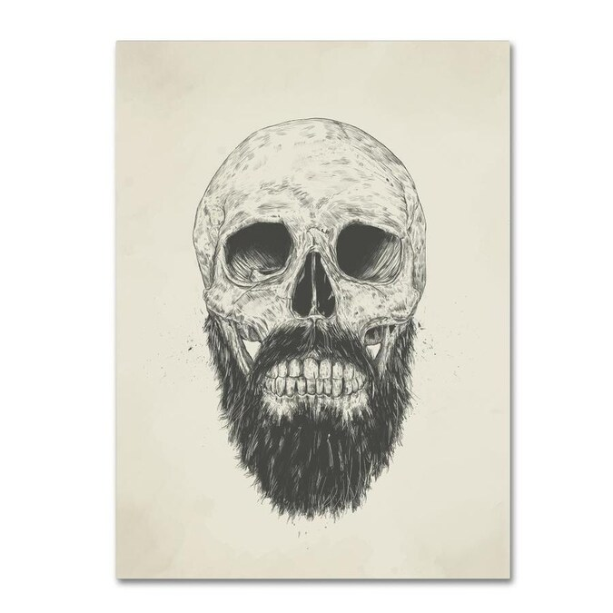 Trademark Fine Art Balazs Solti The Beard Is Not Dead 35x47 Canvas Art In The Wall Art Department At Lowes Com