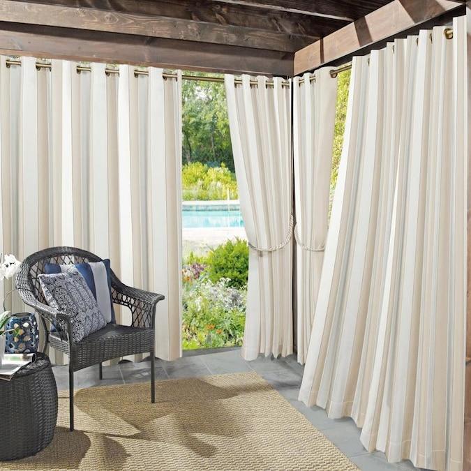 Sun Zero Sun Zero Valencia 108 In Grommet Curtain Panel In Khaki In The Curtains Drapes Department At Lowes Com