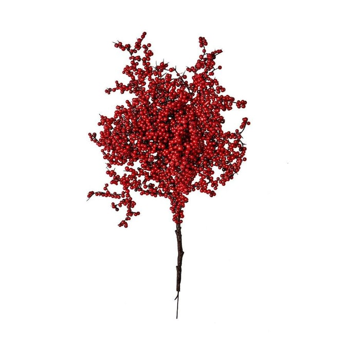 Worth Imports 17 In Red Berry Spray Set Of 3 In The Christmas Picks Department At Lowes Com