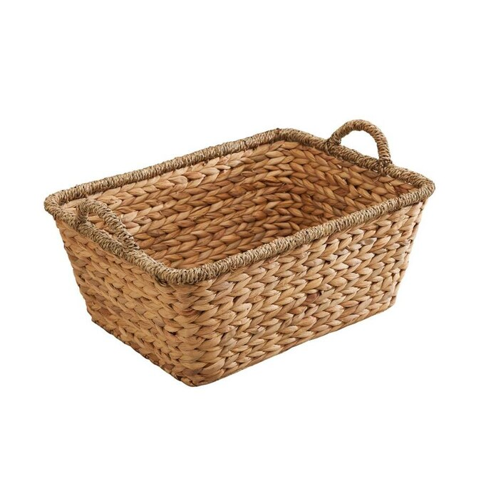 Vifah 19 In W X 10 In H X 14 In D Natural Wood Water Hyacinth Basket In The Storage Bins Baskets Department At Lowes Com