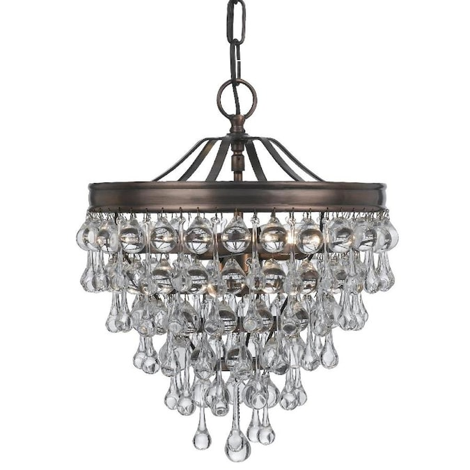 Crystorama Calypso 3 Light Vibrant Bronze Modern Contemporary Crystal Chandelier In The Chandeliers Department At Lowes Com