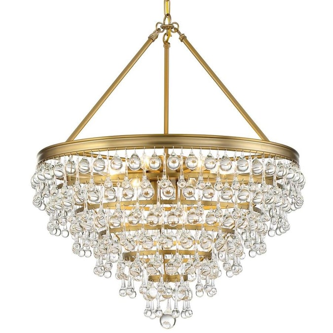 Crystorama Calypso 8 Light Vibrant Gold Modern Contemporary Crystal Chandelier In The Chandeliers Department At Lowes Com