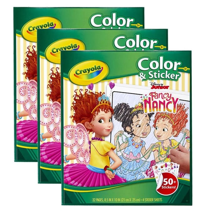 Crayola Color And Sticker Book Fancy Nancy Pack Of 3 In The Books Department At Lowes Com