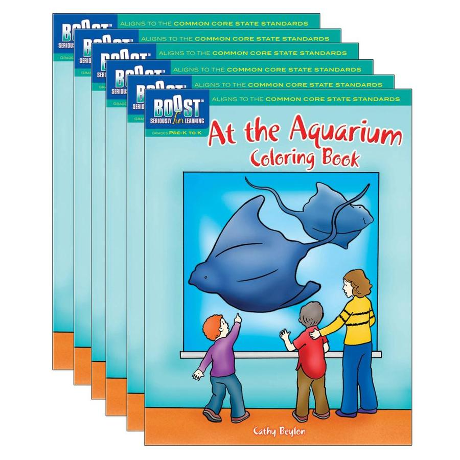 Dover Publications BOOST At The Aquarium Coloring Book, Pack Of 6 In The  Books Department At Lowes.com