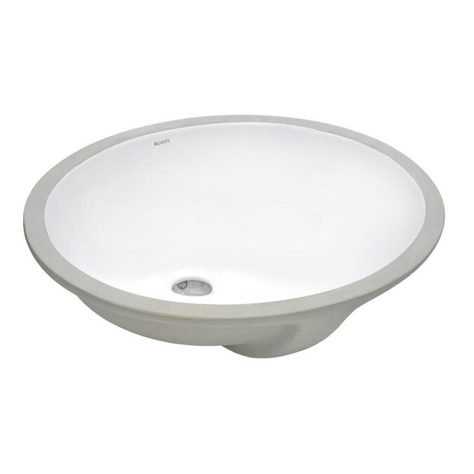 Ruvati Krona White Ceramic Undermount Round Bathroom Sink 19 5 In X 16 In In The Bathroom Sinks Department At Lowes Com