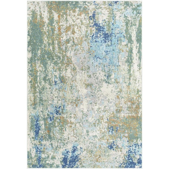 Surya Bodrum 7 X 9 Dark Green Indoor Abstract Mid Century Modern Area Rug In The Rugs Department At Lowes Com