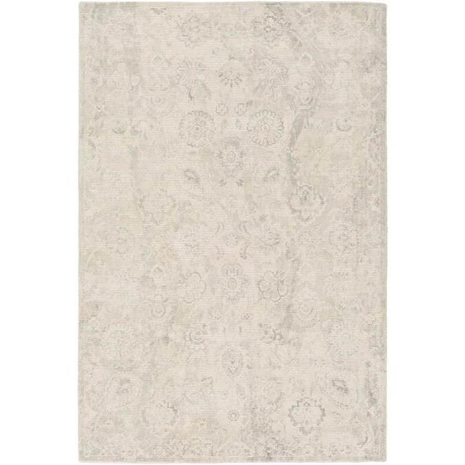 Surya Cocoon 5 X 8 Beige Indoor Solid Farmhouse Cottage Handcrafted Area Rug In The Rugs Department At Lowes Com