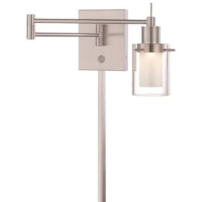 George Kovacs George Kovacs Led 1 Light Brushed Nickel Finish Swing Arm Wall Lamp In The Wall Lamps Department At Lowes Com