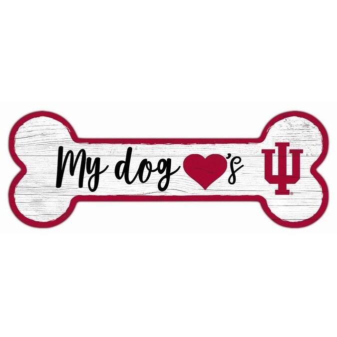 Fan Creations NCAA 12 x 4.25 Dog Bone Wood Sign