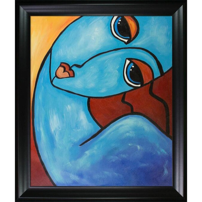 Artistbe Artistbe By Overstockart Picasso By Nora Feeling Blue With Black Matte Frame Canvas Print 29 In X 25 In In The Wall Art Department At Lowes Com