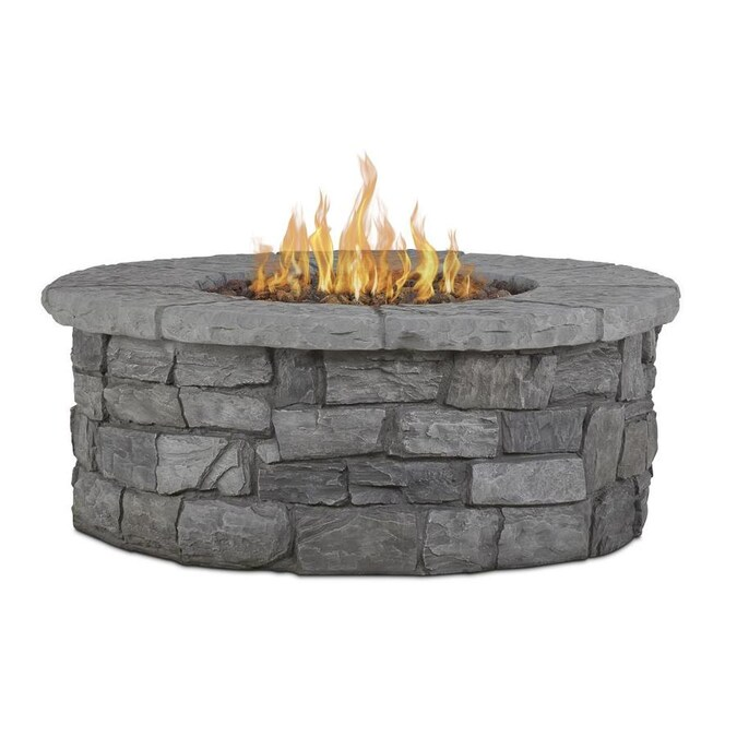 Real Flame Sedona 43 In W 65000 Btu Gray Portable Composite Propane Gas Fire Table In The Gas Fire Pits Department At Lowes Com