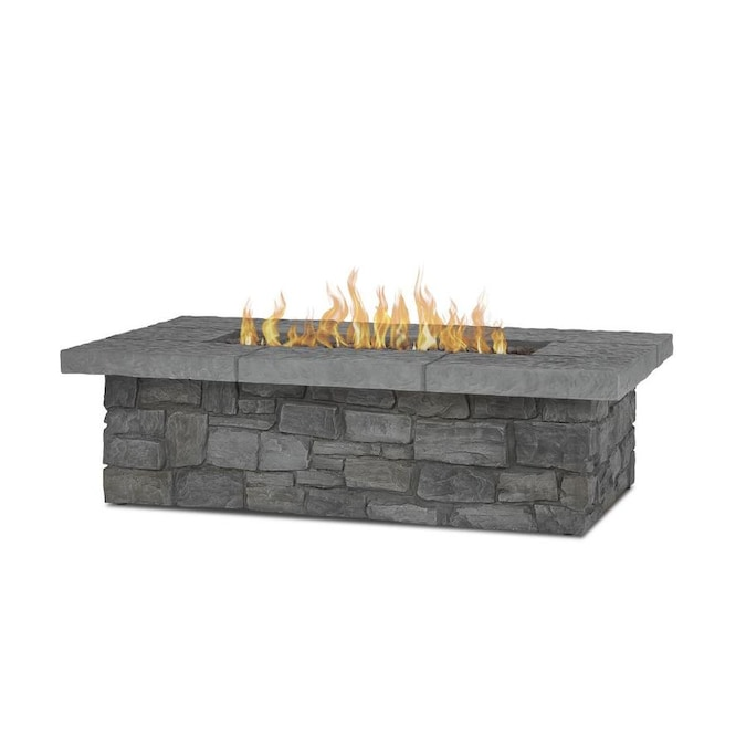 Real Flame Sedona 52 25 In W 65000 Btu Gray Portable Composite Propane Gas Fire Table In The Gas Fire Pits Department At Lowes Com