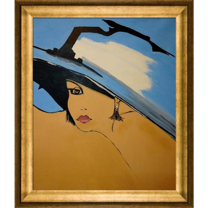 Artistbe Artistbe By Overstockart Beautiful Day By Nora Shepley With Mahogany Frame Canvas Wall Art 26 5 In X 22 5 In In The Wall Art Department At Lowes Com