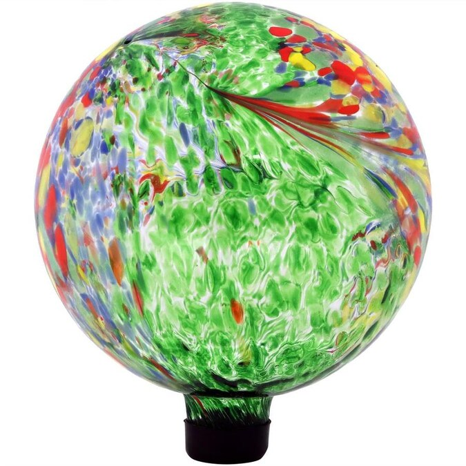Sunnydaze Decor 11 5 In Green Blown Glass Gazing Ball In The Gazing Balls Stands Department At Lowes Com