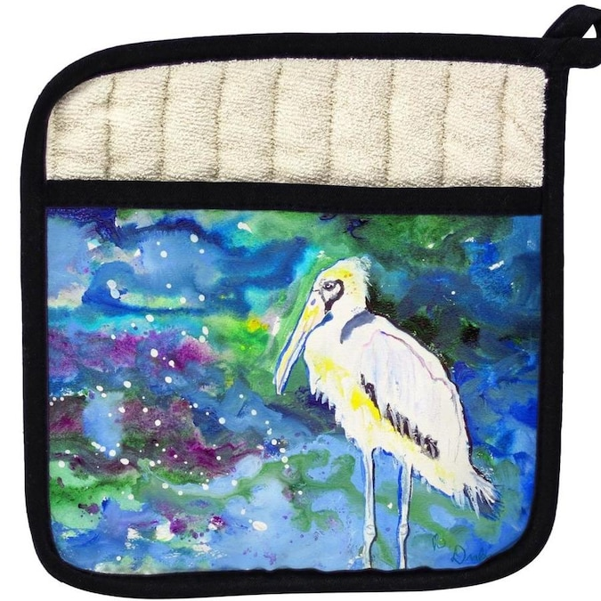 Betsy Drake Interiors Betsy Drake Pt709 Fall Wood Stork Pot Holder In The Kitchen Tools Department At Lowes Com