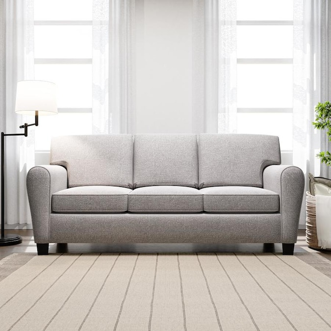 Brookside Brookside Abby Rolled Arm Sofa Light Gray In The Couches Sofas Loveseats Department At Lowes Com