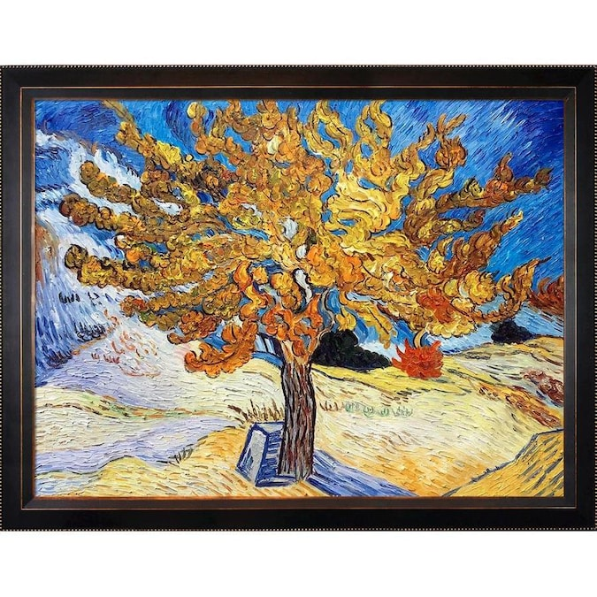 Artistbe Artistbe By Overstockart Rainbow Tree Reproduction By Celito Medeiros With Black New Age Frame Oil Painting Wall Art 28 75 In X 24 75 In In The Wall Art Department At Lowes Com