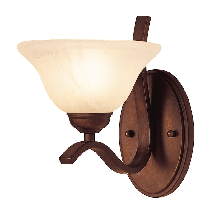 Lucid Lighting 7 5 In W 1 Light Oil Rubbed Bronze Wall Sconce In The Wall Sconces Department At Lowes Com