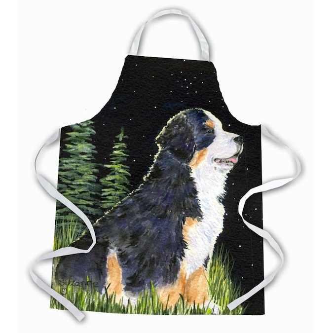 Caroline S Treasures Starry Night Bernese Mountain Dog Apron In The Cooking Apparel Department At Lowes Com
