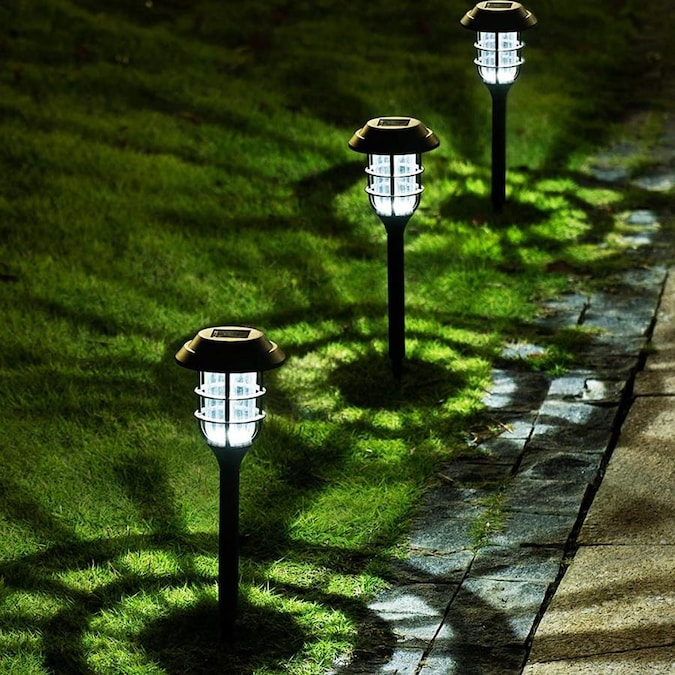 Lightsmax Lightsmax 8 Pack Solar Pathway Lights Outdoor Solar Powered Garden Lights Waterproof Led Path Lights For Patio Lawn Yard And Landscape Warm In The Path Lights Department At Lowes Com