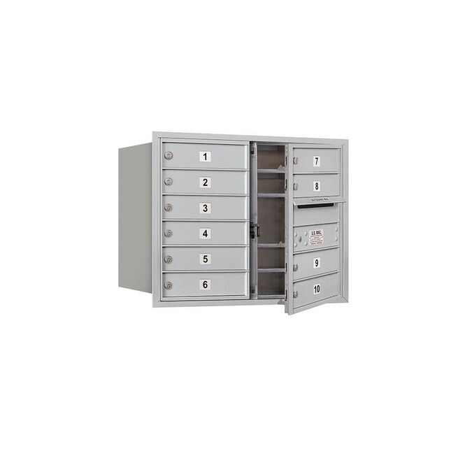Salsbury Industries Recessed Mounted 4c Horizontal Mailbox Includes Master Commercial Lock 6 Door High Unit 23 1 2 In Double Column 10 Mb1 Doors Aluminum Front Loading Private Access In The Mailboxes Department At Lowes Com