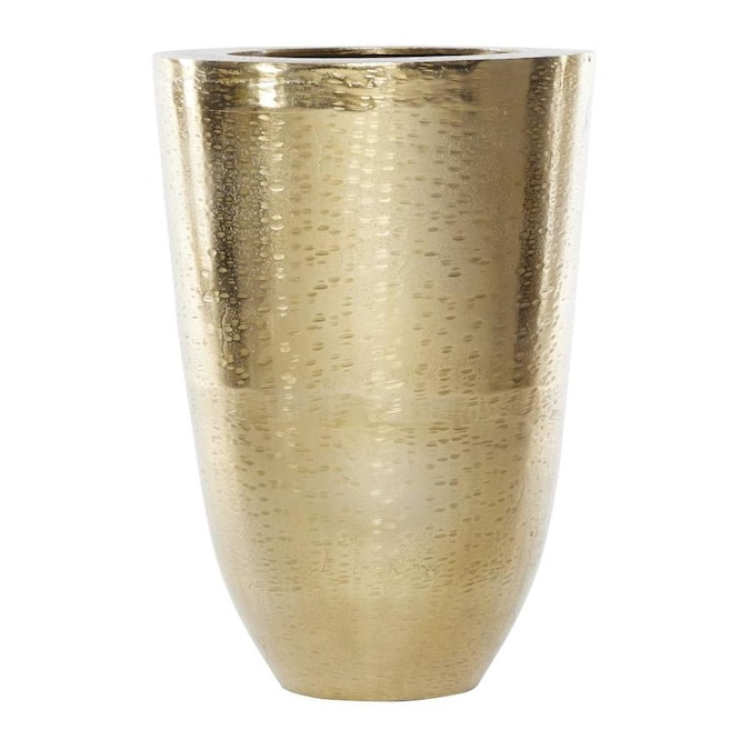 Venus Williams Modern Large Cylindrical Aluminum Gold Floor Vase 12 5 In X 18 25 In The Decorative Accessories Department At Lowes Com