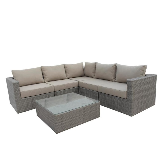 Casainc Patio Conversation Set 5 Piece Metal Frame Patio Conversation Set With Cushions In The Patio Conversation Sets Department At Lowes Com