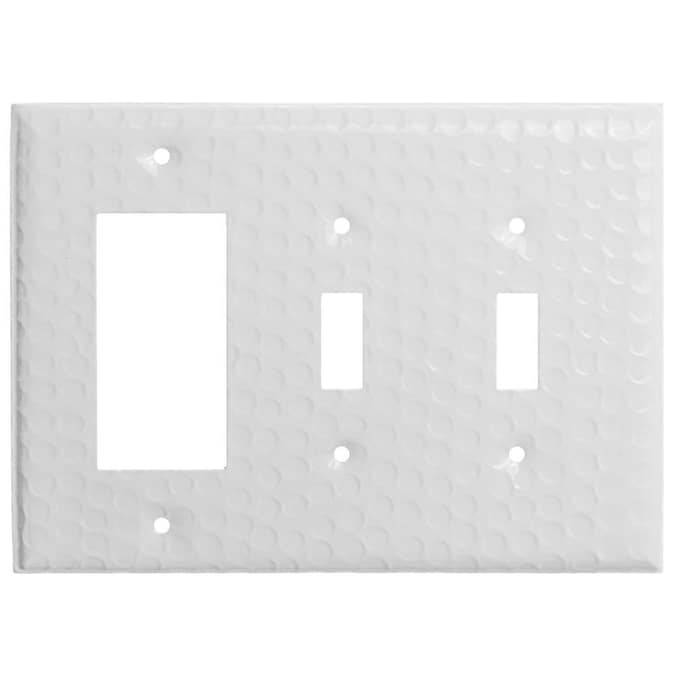 Monarch Abode 3 Gang Classic White Decorator Standard Wall Plate In The Wall Plates Department At Lowes Com