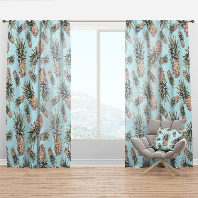 Designart 63 In Black Faux Linen Room Darkening Thermal Lined Rod Pocket Single Curtain Panel In The Curtains Drapes Department At Lowes Com