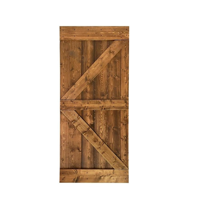Calhome K Series 30 In X 84 In Ocean Blue 2 Panel Stained Pine Wood Single Barn Door In The Barn Doors Department At Lowes Com