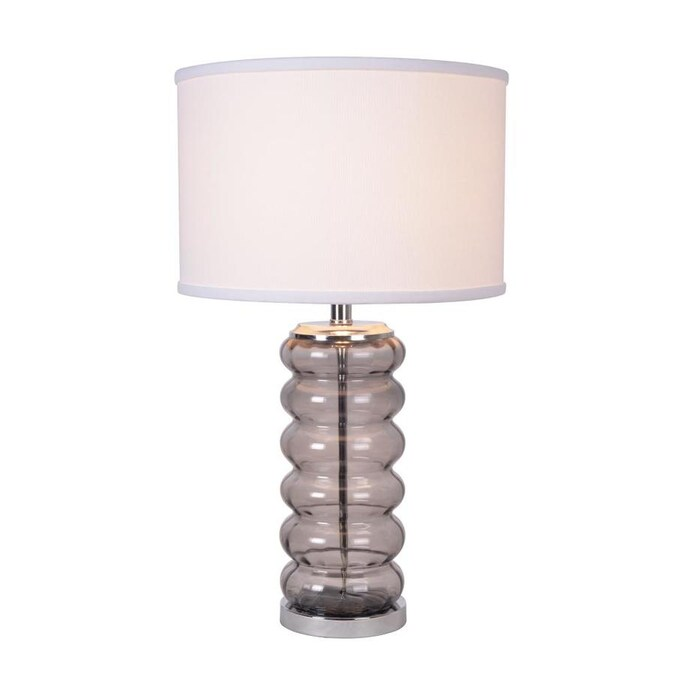 North Star Designs Morgan 26 In Gray 3 Way Table Lamp With Fabric Shade In The Table Lamps Department At Lowes Com