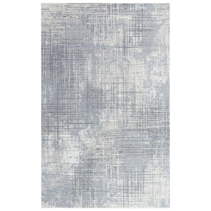 Aurora 5 X 8 Gray Abstract Mid Century Modern Handcrafted Area Rug In The Rugs Department At Lowes Com