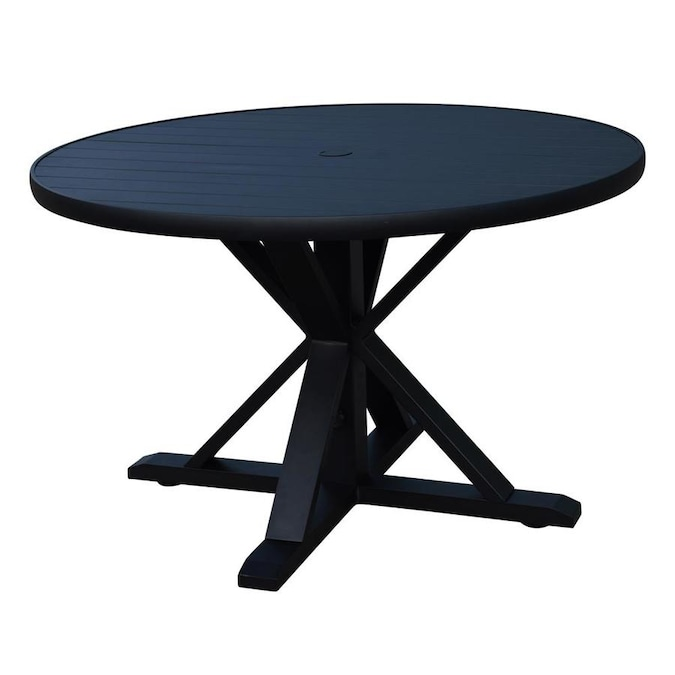 Round Dining Table In The Patio Tables, Santorini Patio Furniture