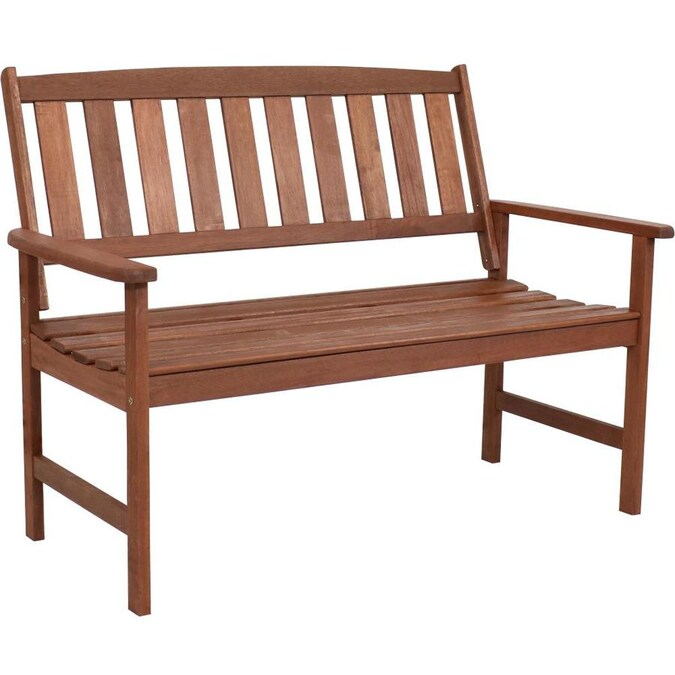 Sunnydaze Decor Meranti Wood 2 Seat Bench In The Patio Benches Department At Lowes Com