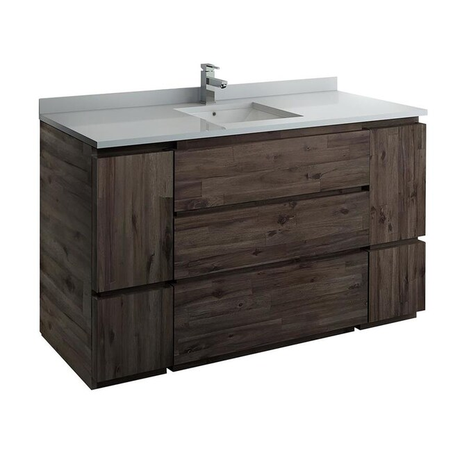 Fresca Formosa 60 In Acacia Wood Bathroom Vanity Cabinet In The Bathroom Vanities Without Tops Department At Lowes Com