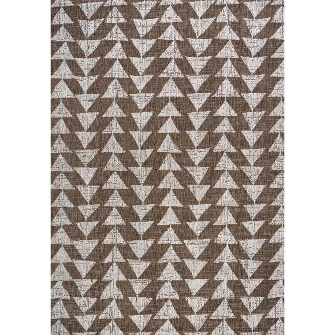 Jonathan Y Santa Monica 8 X 10 Brown Beige Indoor Outdoor Geometric Area Rug In The Rugs Department At Lowes Com