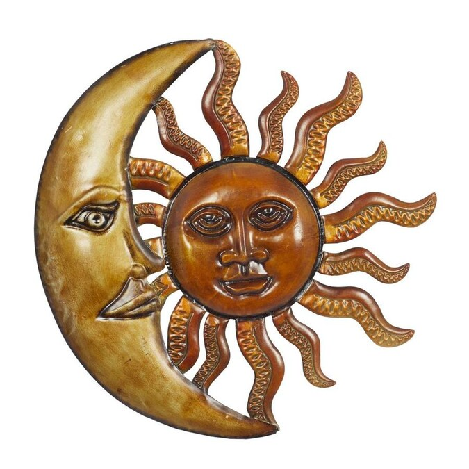 Grayson Lane Small Round Sun And Moon Iron Wall Art 20 In In The Wall Art Department At Lowes Com