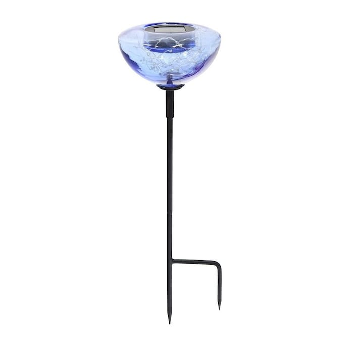 Minuteman International Achla Designs Aureole Metal Solar Stake With Glass Bowl 6 5 In Diameter Lapis Blue In The Garden Stakes Shepherds Hooks Department At Lowes Com