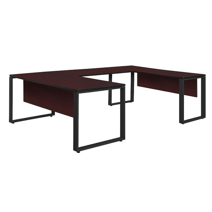 Regency Fusion 66 In U Desk Shell With 48 In Bridge Cherry In The Desks Department At Lowes Com